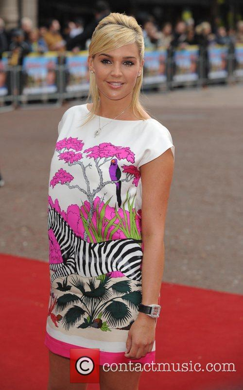 Danielle Lloyd  at the premiere of 'Three...