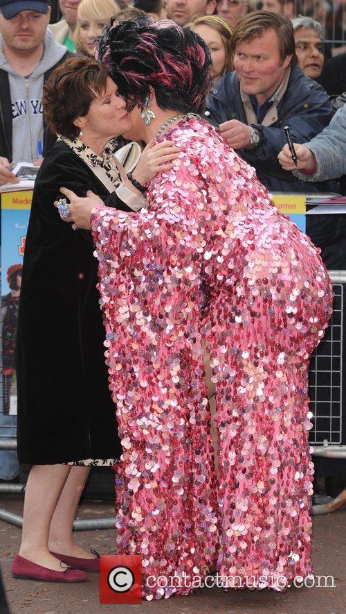 Imelda Staunton  at the premiere of 'Three...
