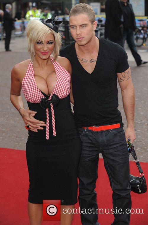 Jodie Marsh and guest at the premiere of...