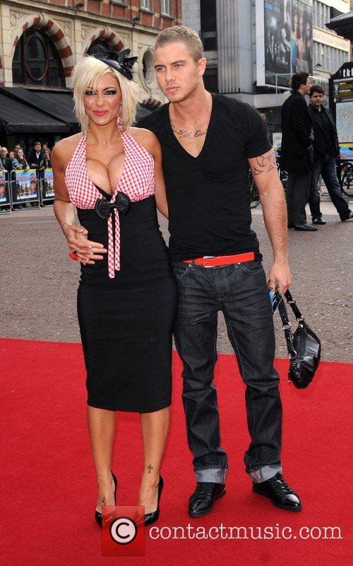 Jodie Marsh and guest at the UK film...