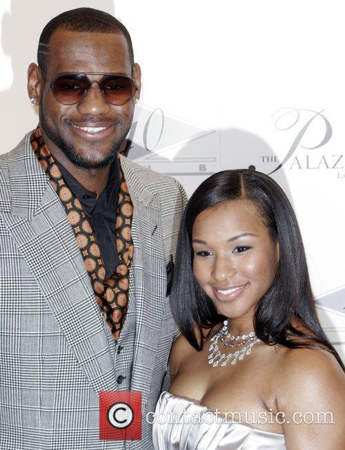 LeBron James and Savannah Brinson Grand opening of...