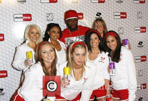 50 cent and models 50 cent and Vitaminenergy...