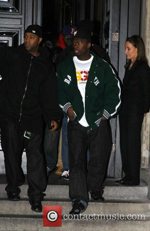 50 Cent leaving Hotel de Rome with his...