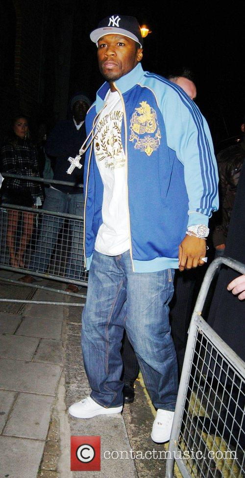 50 Cent arriving at his after party on...