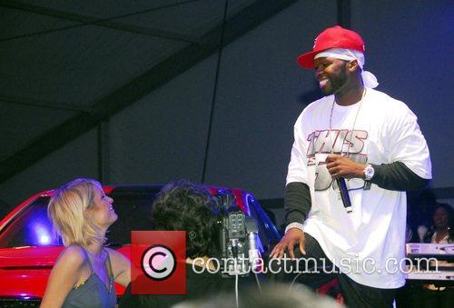 50 Cent Superbowl Party hosted by Paris Hilton