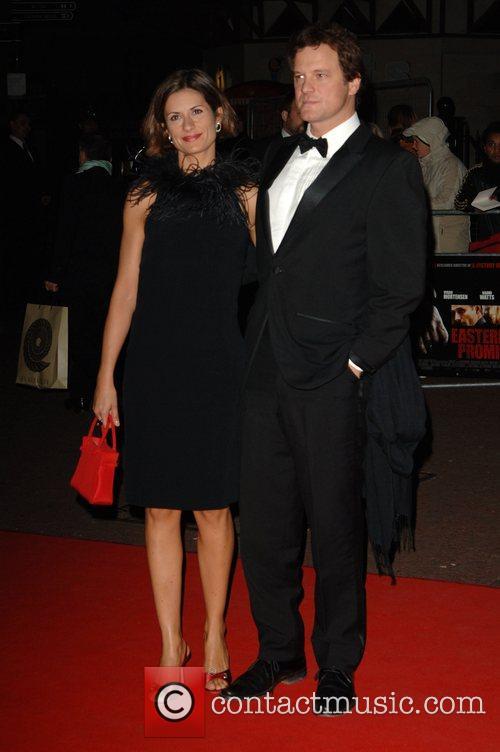 Colin Firth and wife Livia Guigglioli The Times...