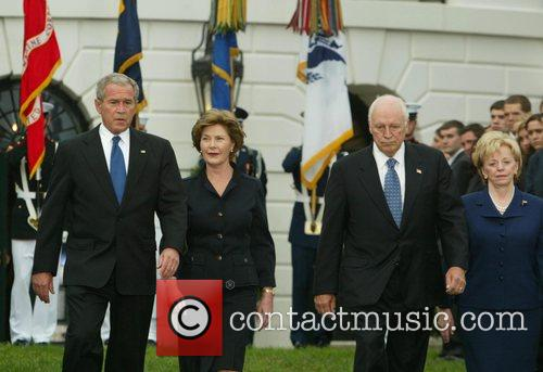 President George W. Bush, Mrs. Laura Bush, Vice...