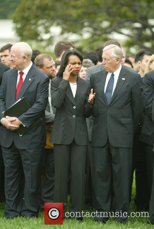 Secretary of State Condaleeza Rice and Steny Hoyer...