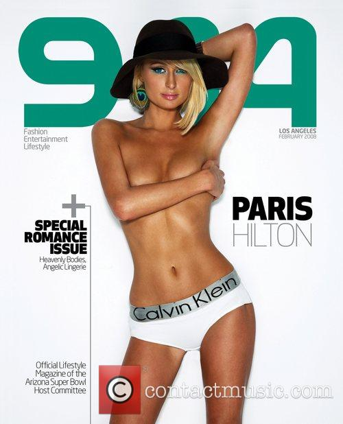 Paris Hilton on the cover of the February...