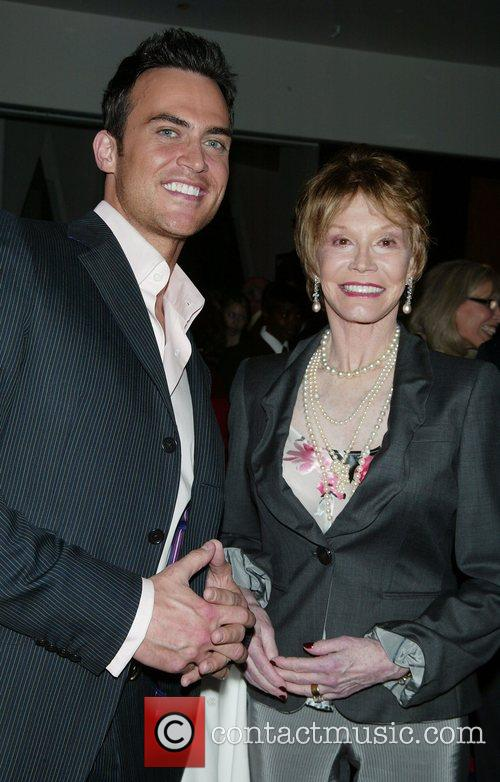 Cheyenne Jackson and Mary Tyler Moore Book party...