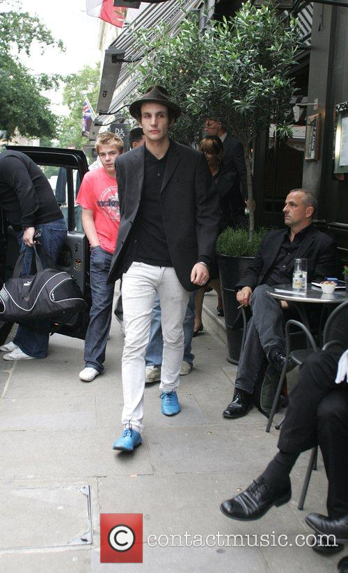 Blake Fielder storms out of a Covent Garden...