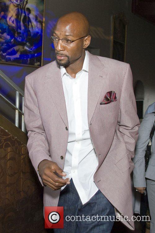 NBA Miami Heat star basketball player Alonzo Mourning...
