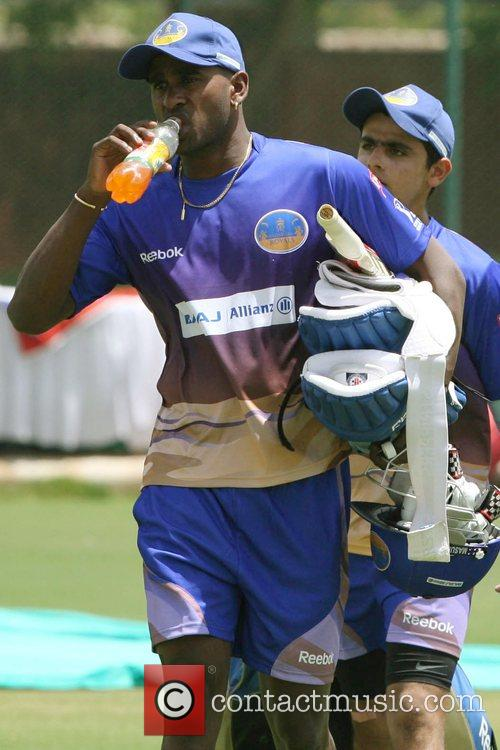 The Rajasthan Royals player during a practice session