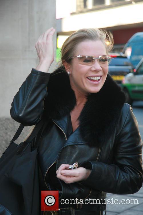 **Exclusive** Letitia Dean leaving a dance studio where...