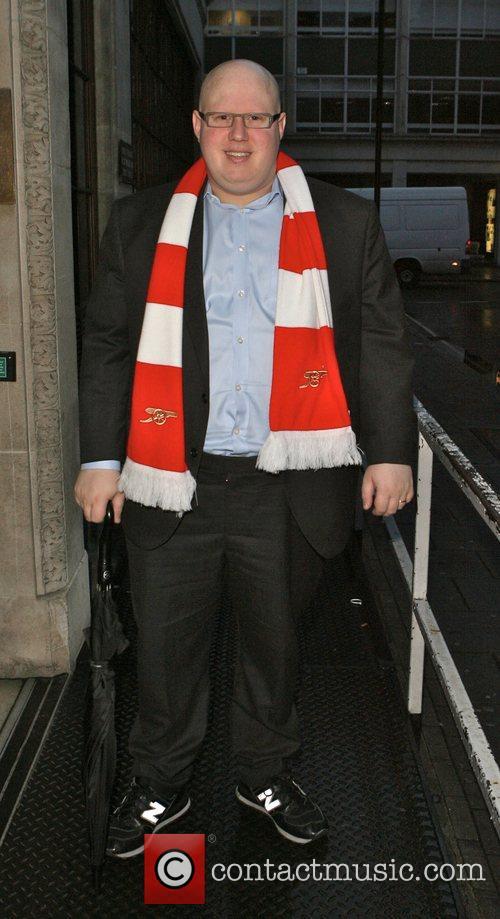 Matt Lucas arriving at Radio One to promote...