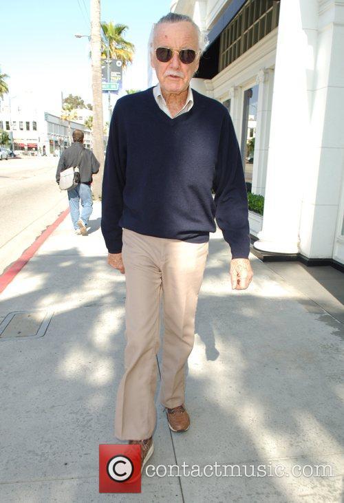 Marvel Comics legend, Stan Lee walking around in...