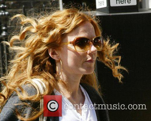 Geri Halliwell leaving an alternative health clinic before...