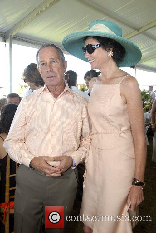 Micheal Bloomberg and Diana Taylor The Hampton Classic...