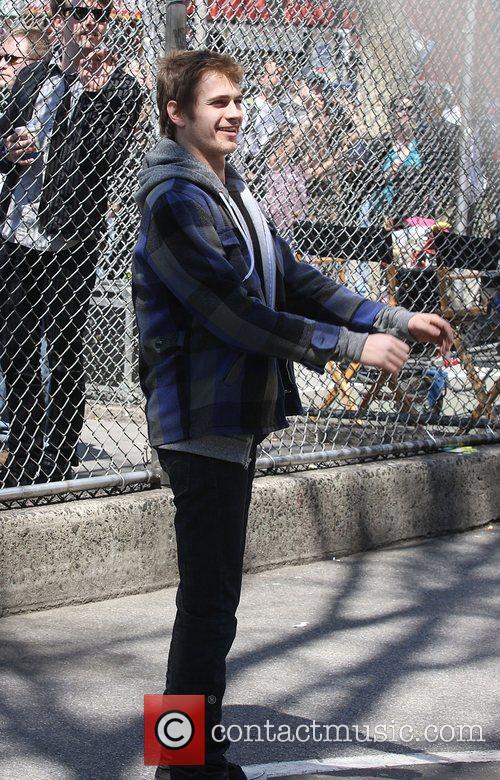 Hayden Christensen on the set of the film...
