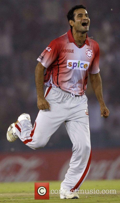 Irfan Pathan  DLF IPL cricket match between...