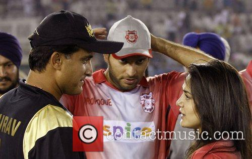 Sourav Ganguly, Yuvraj Singh and Preity Zinta DLF...
