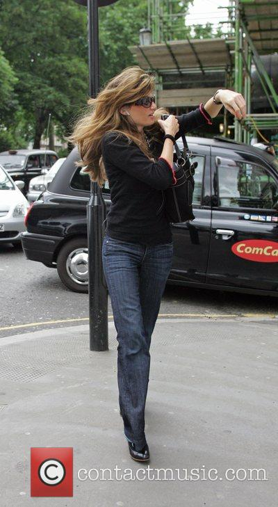 Jemima Khan arrives at Harvey Nichols department store...