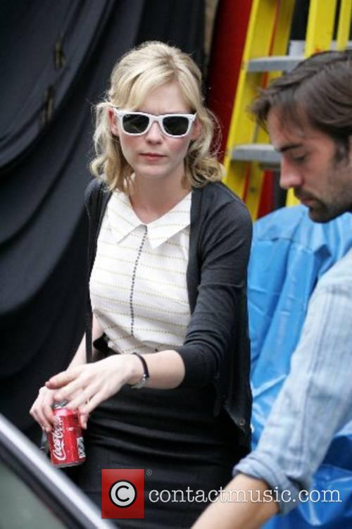 On the set of her new film