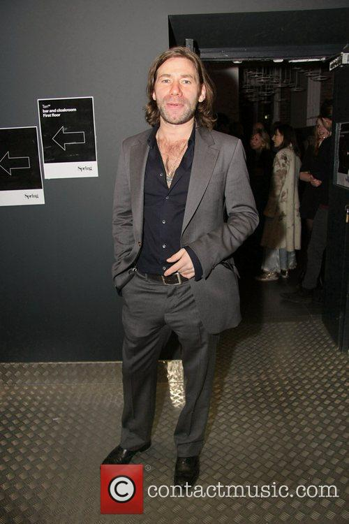 Artist Mat Collishaw at the private view of...