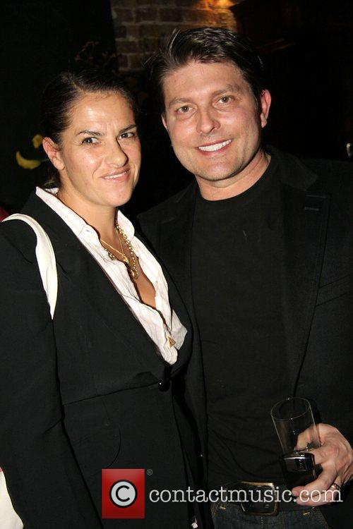 Tracy Emin with Kenny Goss (George Michael's partner)...