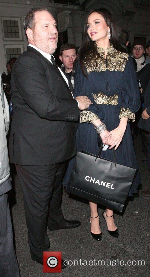 Harvey Weinstein and his wife Georgina Chapman leaving...