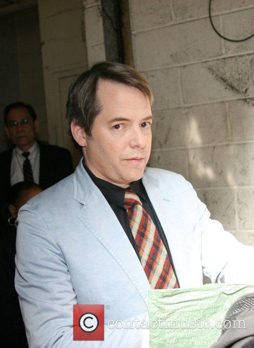 Matthew Broderick signing autographs outside ABC studios after...