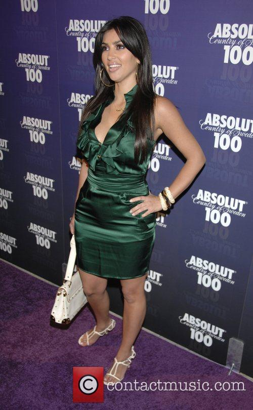 Kim Kardashian Absolut 100 hosts a party for...