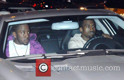 Kanye West arriving at GOA nightclub for his...
