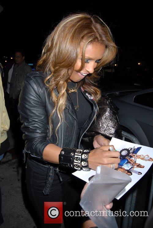 Melody Thornton arriving at GOA nightclub