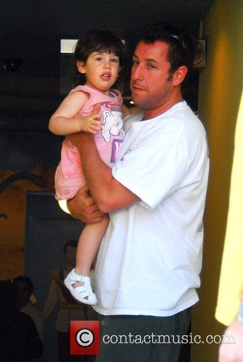 Adam Sandler taking his daughter to eat at...
