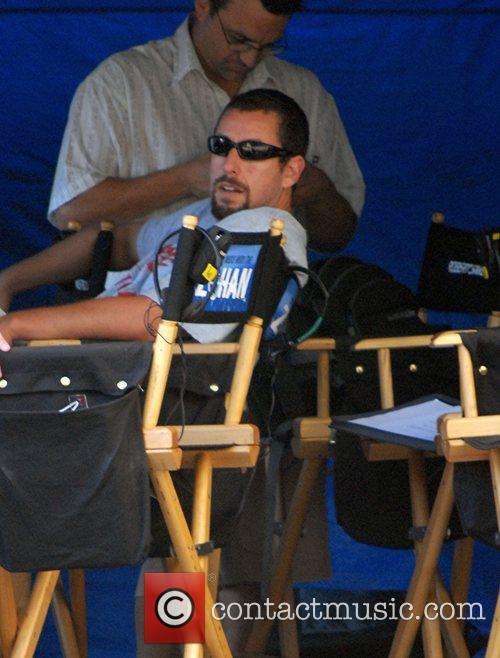 Adam Sandler on the film set for 'You...