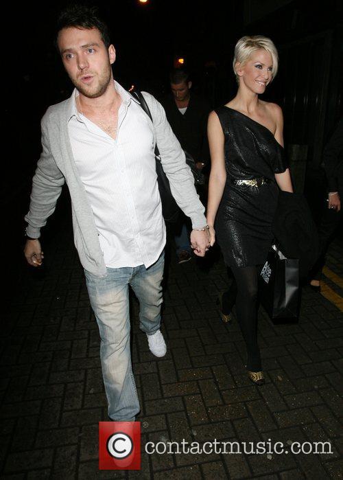 Sarah Harding and boyfriend Tom Crane. Sarah threatens...