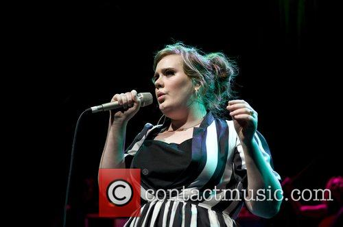 Adele performing in concert at the Shepherds Bush...