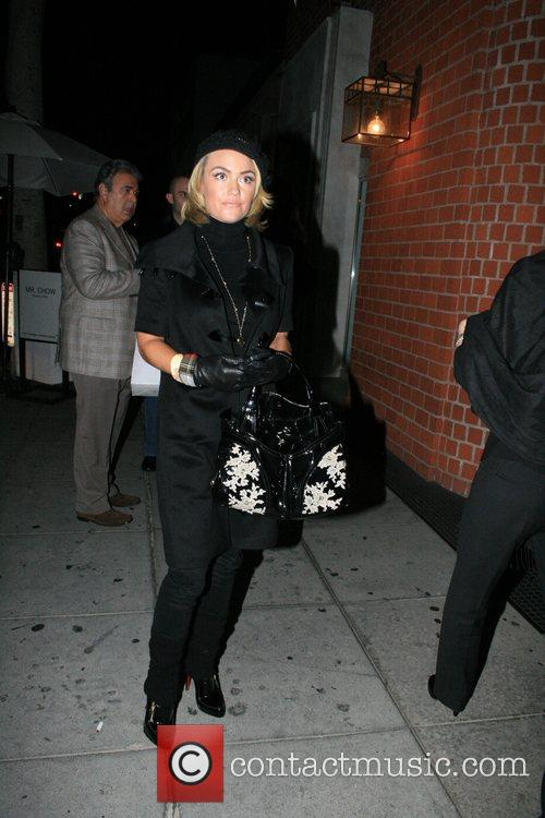 Kelly Carlson arriving at Mr. Chow