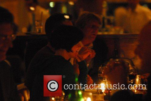 Christina Ricci enjoying dinner at the wrap party...
