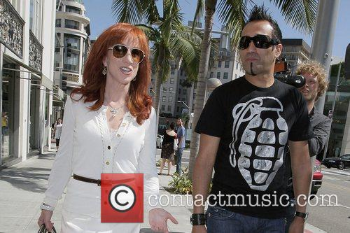 Kathy Griffin shops at Victoria's Secret on Rodeo...
