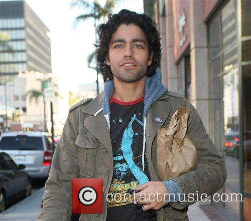 Entourage star Adrian Grenier out and about in...