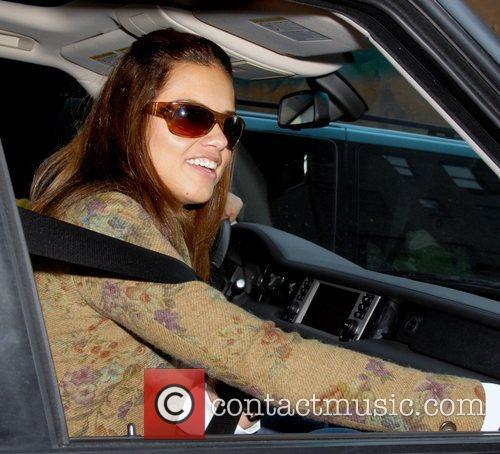 Adriana Lima the Brazilian supermodel arriving at the...