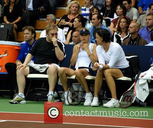 Elton John, Anna Kournikova and Lindsay Davenport 15th...