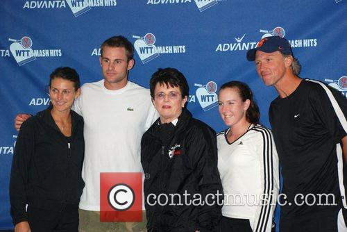 Billie Jean King and team members 15th annual...