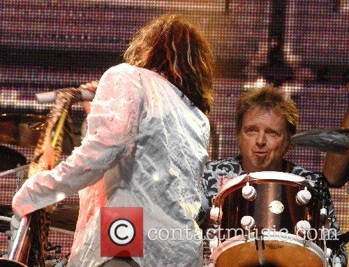 Joey Kramer of Aerosmith performing at the festival...