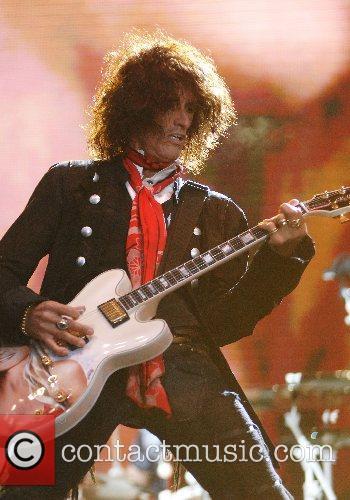 Joe Perry of Aerosmith performing at the festival...