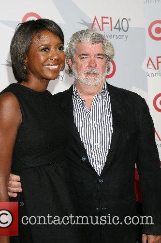 George Lucas & Melanie Hobson AFI's 40th Anniversary...