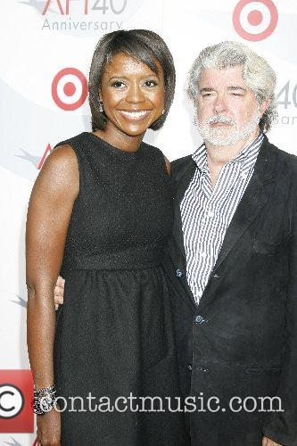 Mellody Hobson and George Lucas AFI's 40th Anniversary...