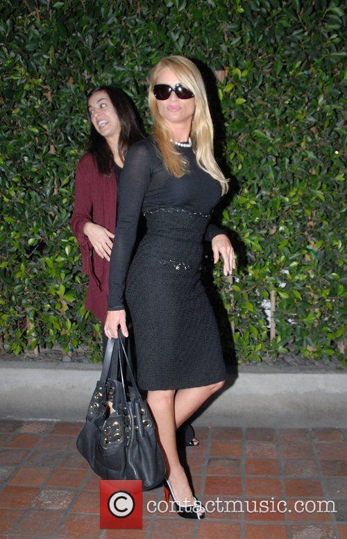 Nicollette Sheridan leaving Ago restaurant Los Angeles, California